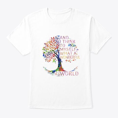 Flower Children Wonderful Costume White T-Shirt Front