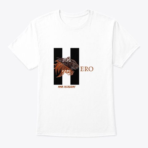 Hero Merch White T-Shirt Front