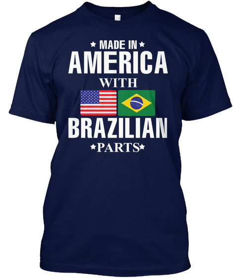 American With Brazilian Parts Navy T-Shirt Front