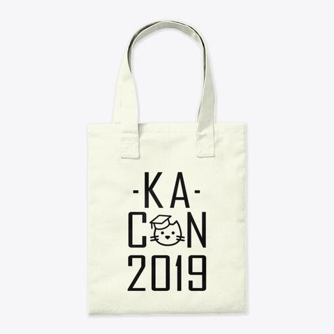 Ka Con 2019 Text Only Natural T-Shirt Back