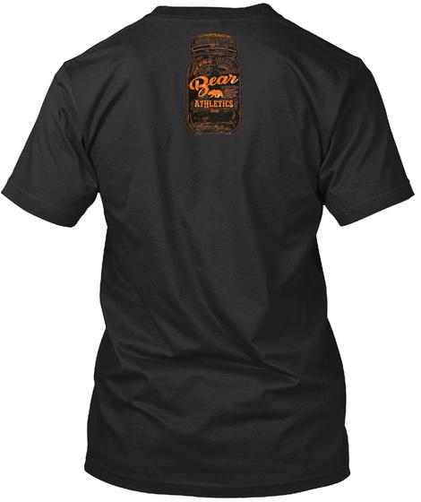 Bear Athletics Black T-Shirt Back
