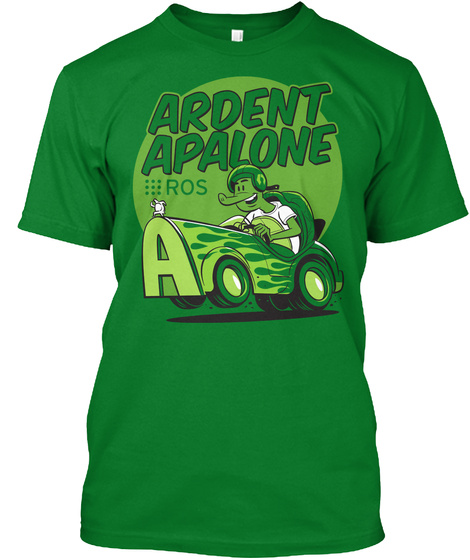 Ardent Apalone Ros Bright Green T-Shirt Front