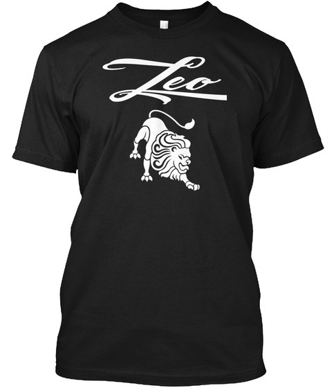 August 17   Leo Black T-Shirt Front