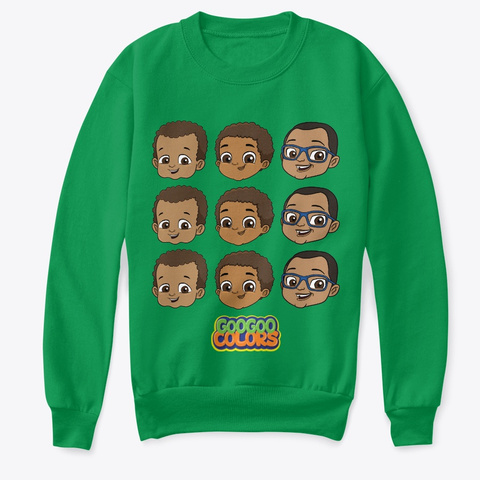 """Zbros"" Kid Sweater Kelly Green  T-Shirt Front"