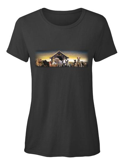 Hunde Ellesson Black Damen T-Shirt Front