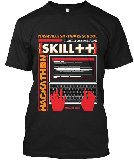Nss Alumn  Hackathon T Shirt Black Black T-Shirt Front