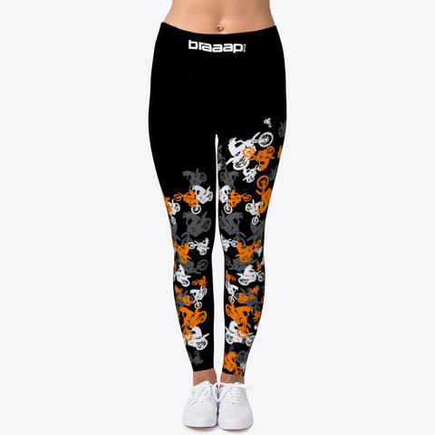 Mx Leggings Orange Scatter Black Camiseta Front