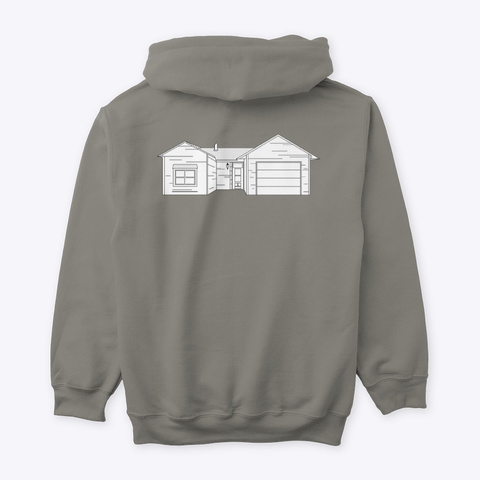 Classic Burbs Hoodie   All Colors Charcoal T-Shirt Back