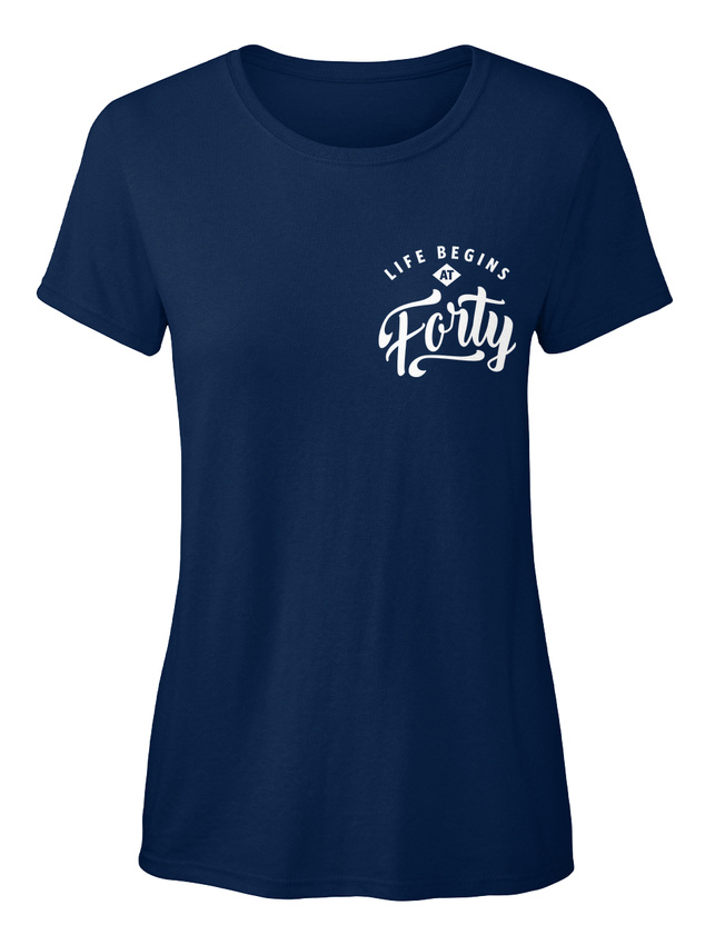 Life Begins At 4040th Birthday Forty The Last 39 Standard Women/'s T-shirt