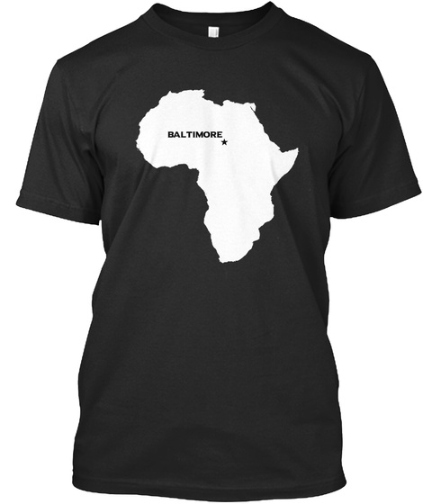 Baltimore  Black T-Shirt Front