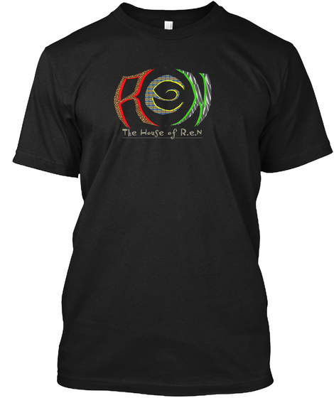 Ren The House Of R. E. N Black T-Shirt Front