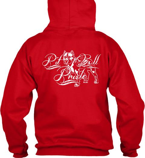 Wlmp Pitbull Pride! Pit Bull Pride Red T-Shirt Back