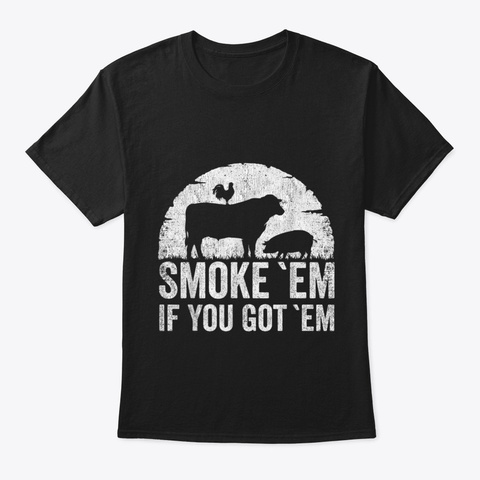 Bbq Smoker Accessory Pitmaster Funny Dad Black T-Shirt Front