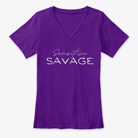 Sensitive Savage Team Purple  T-Shirt Front