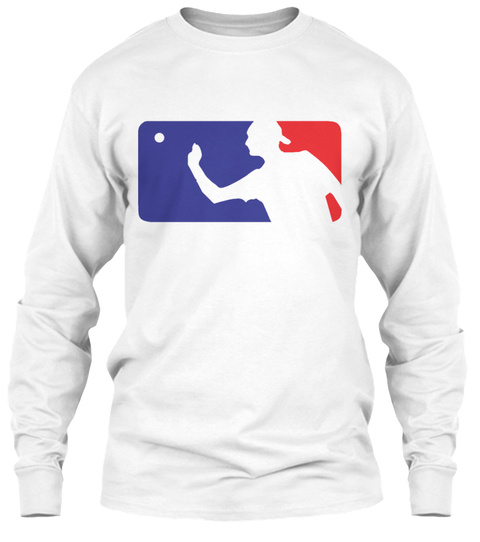 Major League Beer Pong White Long Sleeve T-Shirt Front