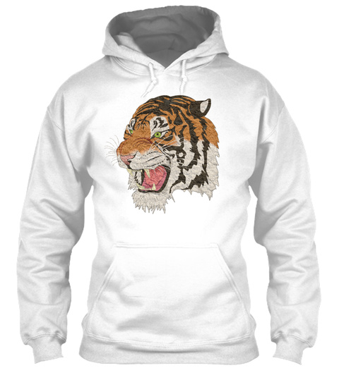 Tiger Shirt White T-Shirt Front