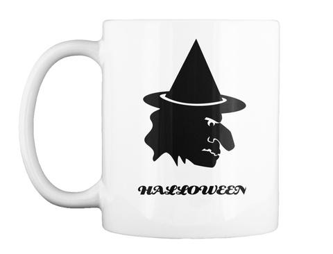 Halloween White Mug Front