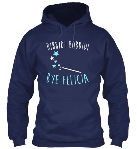 Bibbidi Bobbidi Bye Felica Navy T-Shirt Front