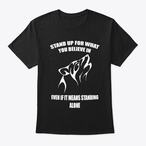 Wolf T Shirts Black T-Shirt Front