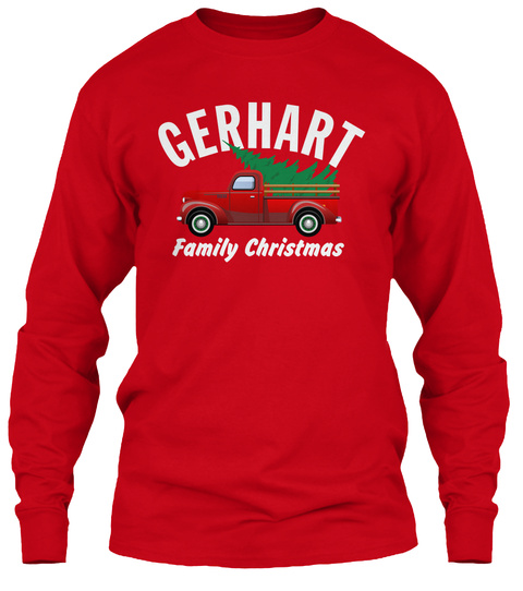 Gerhart Family Christmas Red T-Shirt Front