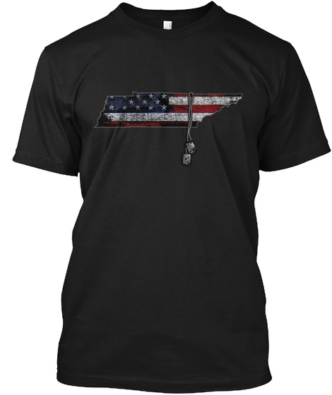 Tennessee Honors Veterans Black T-Shirt Front
