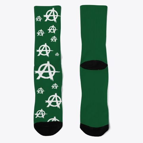 Anarchist Socks Dark Green T-Shirt Front