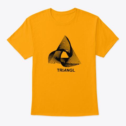Triangle Art Design Gold T-Shirt Front