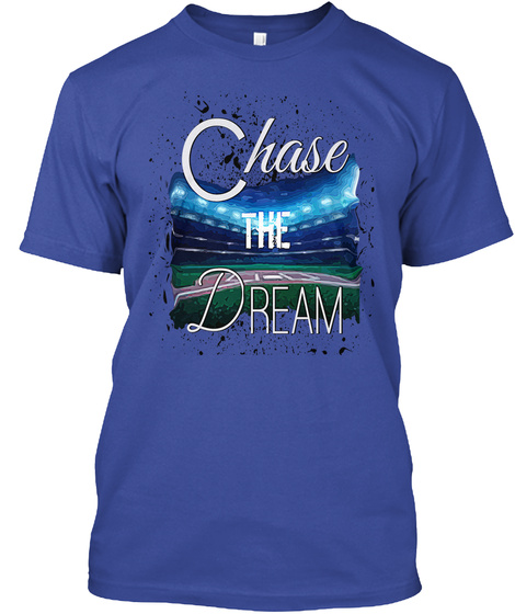 Chase The Dream Deep Royal T-Shirt Front