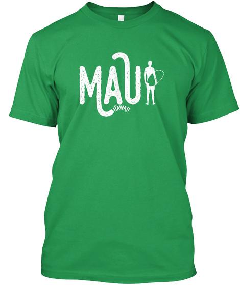Wave Rider • Maui, Hawaii Kelly Green T-Shirt Front