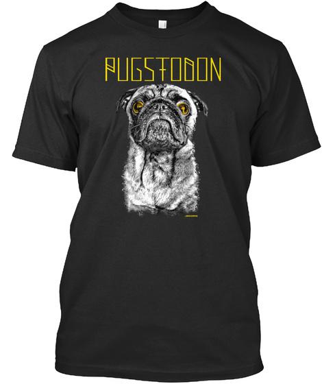 Pugstodon Black T-Shirt Front