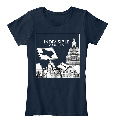 Indivisible Austin New Navy T-Shirt Front