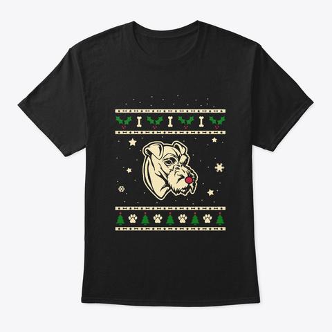 Christmas Irish Terrier Gift Black T-Shirt Front