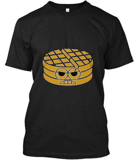 """""""Angry Waffle"""" Tee Black T-Shirt Front"""
