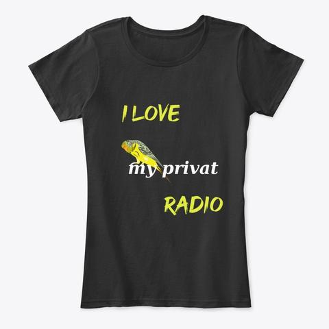 Wellensittich – Mein Persönliches Radio Black T-Shirt Front