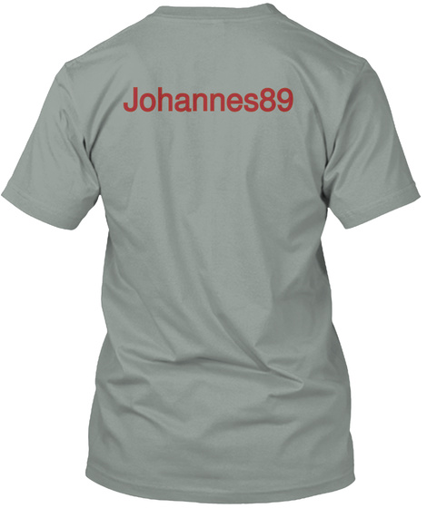 Johannes89 Warm Grey T-Shirt Back