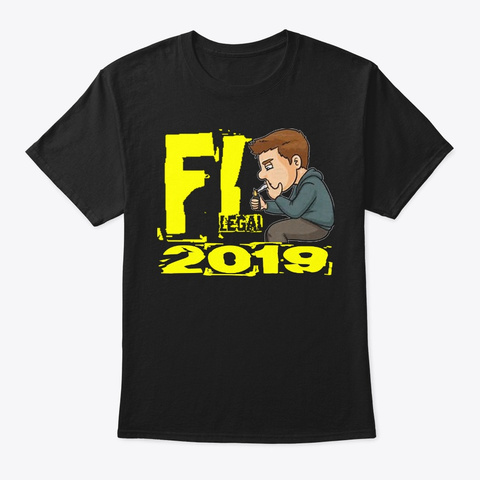 Fl Legal 2019 Design Black T-Shirt Front