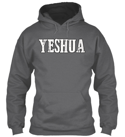 Yeshua Dark Heather Sweatshirt Front