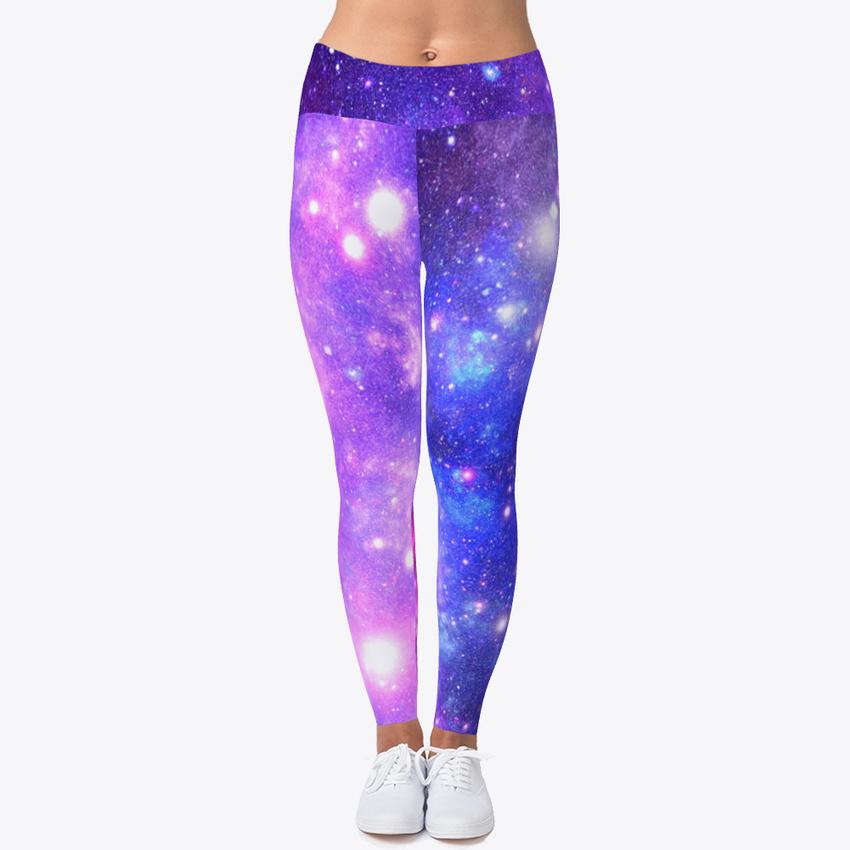 0c5499f48bb0f8 Details about Unique Colorful Galaxy Women's Print Fitness Stretch *Leggings*  Yoga Pants