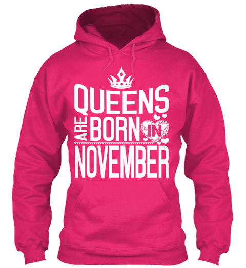 Queens Are Born In November Heliconia T-Shirt Front