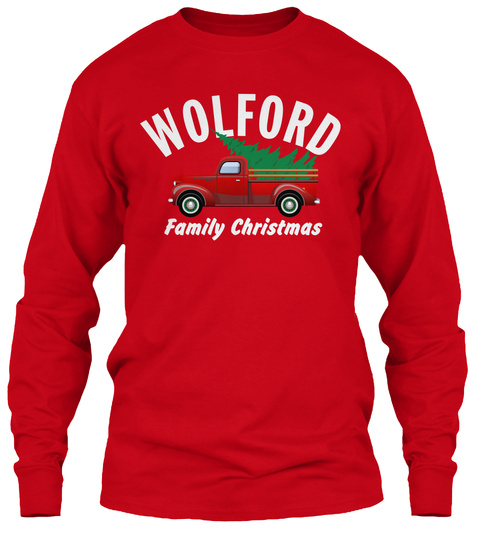 Wolford Family Christmas Red T-Shirt Front