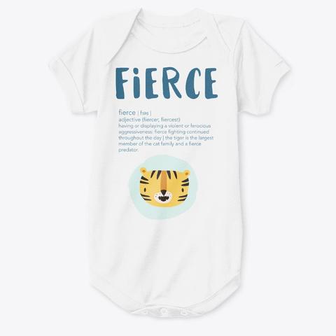 Fierce Baby Tiger Onesie White T-Shirt Front