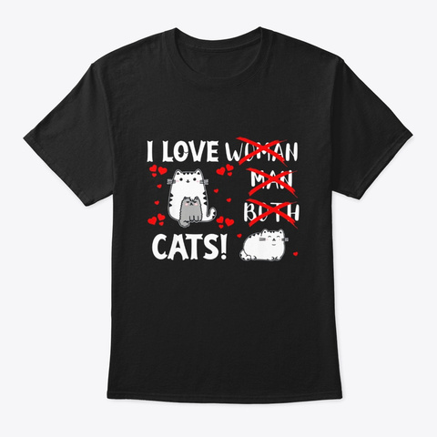Kawaii Cat Pile Anime Tee Asexual Pride Black T-Shirt Front