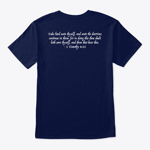 Doctrine Matters!  Navy T-Shirt Back