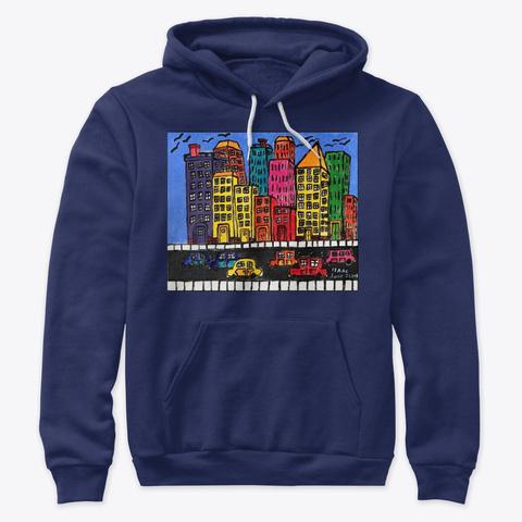 "Isaac's ""Cities"" Apparel Navy T-Shirt Front"
