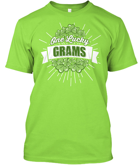 One Lucky Grams Lime Camiseta Front