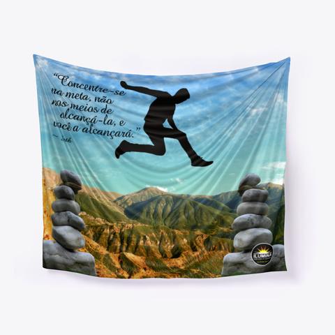 Tapeçaria Inspirativa Em Leis Universais Denim Blue T-Shirt Front