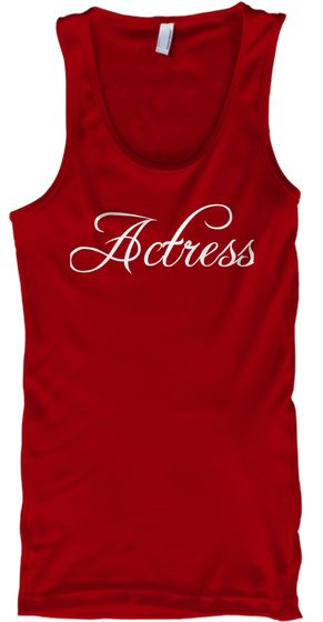 Actress Red T-Shirt Front