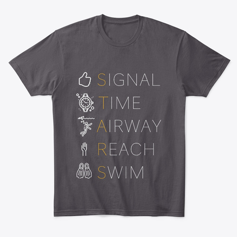 Scuba Starts, 5 Point Ascent Heathered Charcoal  T-Shirt Front