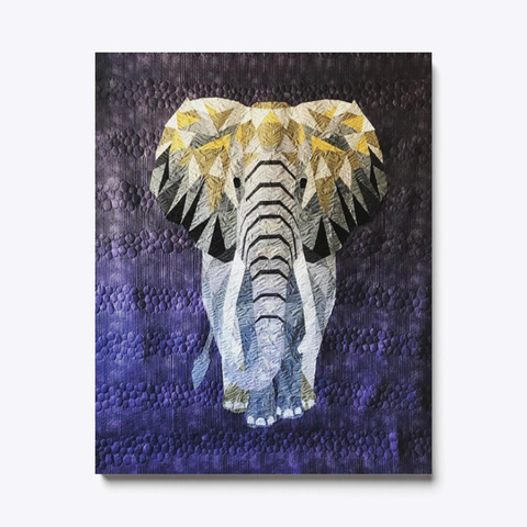 Quilting Elephant Canvas Standard T-Shirt Front