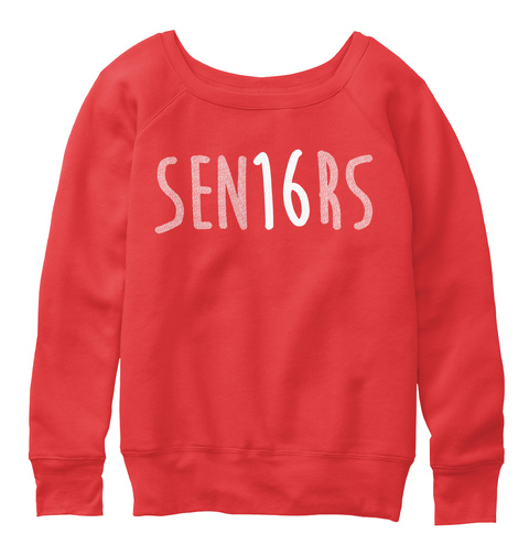 Sen16 Rs Red Sweatshirt Front